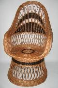 Fotel wiklinowy na koszu - kolor. 60x75x40/110, ¶rednica siedziska 46cm.