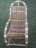 Fotel bujany wiklinowy. 115x60x/110,siedzisko: 48x45, wys. opar.80