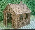 Domek wiklinowy.  160x130 wys.155 bez komina.