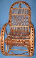 Fotel bujany wiklinowy. 115 x 59, wys. 50/76/115, siedzisko szr 49, g³êb. 45, wys oparcia 82 cm.