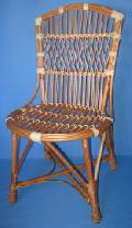 Krzes³o wiklinowe siedzisko 50x45, wys. przód 46, ty³ 42, wys. oparcia 96