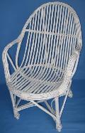 Fotel wiklinowy - Student, malowany. 60x62, wys 43/63/93, ¶redn. siedziska 46