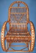 Fotel bujany wiklinowy. 115 x 59, wys. 50/76/115, siedzis szer 49, g��b. 45, wys oparcia 82