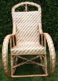 Elegancki fotel bujany wiklinowy. 120x57 wys. 54/107 siedzisko 45x40 wys. oparcia 75