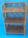 Regalik z wikliny, 3 pó³kowy szer.g³êb.wys. 45 x 25 x 75