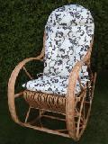 Fotel bujany z poduszk±  115 x 60, wys. 47/70/107, siedzisko szr 48,g³êb. 43, wys oparcia 82 cm.