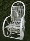 Fotel bujany wiklinowy jasny. d³.szer.wys. 115x60x/110,siedzisko: 48x45, wys. opar.80